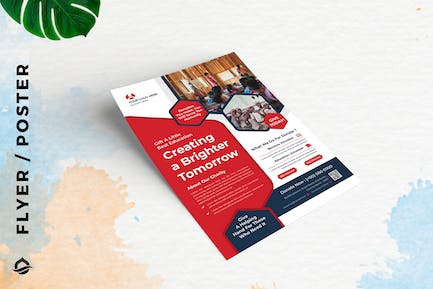 Charity Education donation Template Flyer / Poster