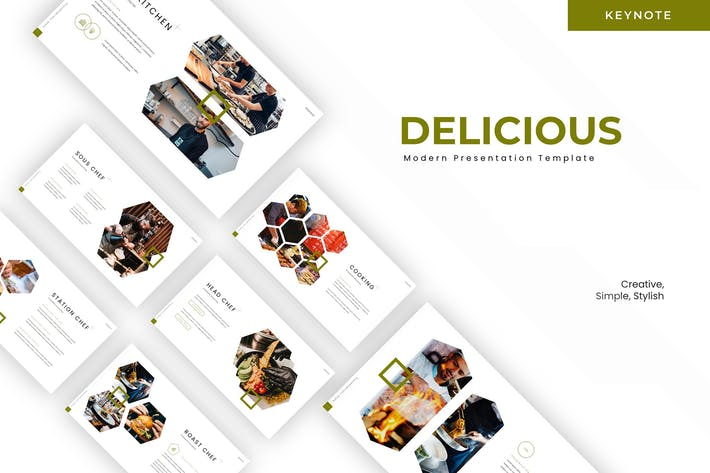 Thumbnail for Delicious - Keynote Template