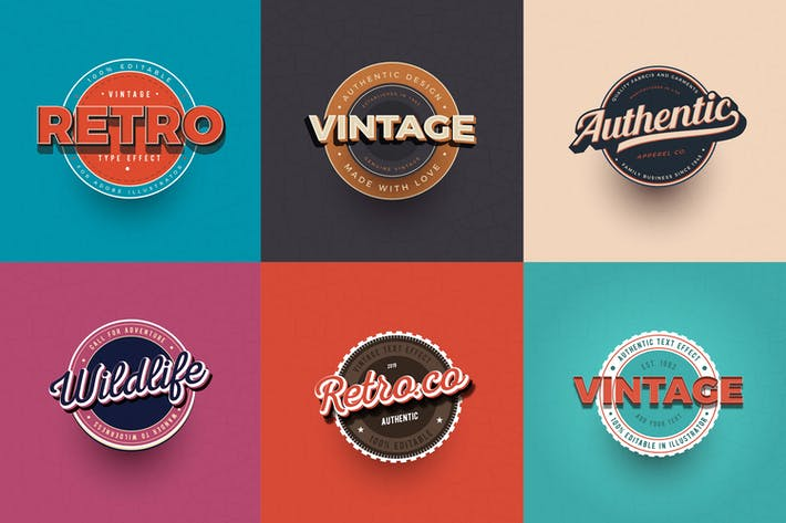 Thumbnail for Vintage Text Effects for Illustrator