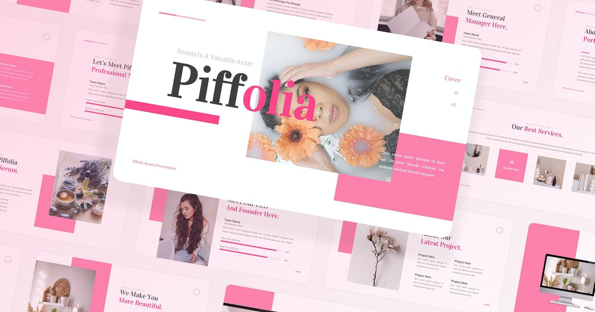 Download Piffolia Beauty Care Keynote UP by Rometheme