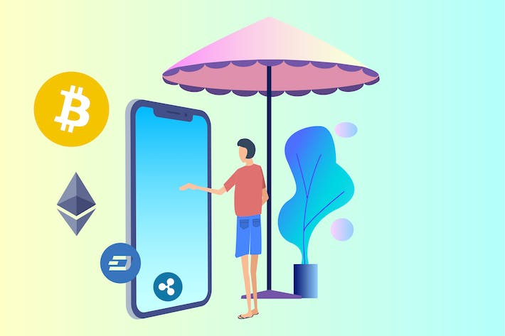 Thumbnail for Travel Service Blockchain 2D Illustration