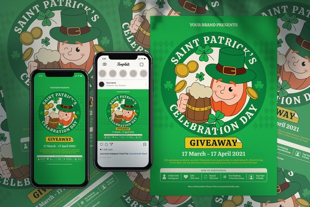 Saint Patrick's Day Flyer & Social Media