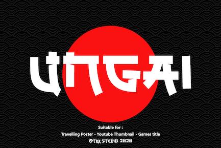 UNGAI - faux japanese font
