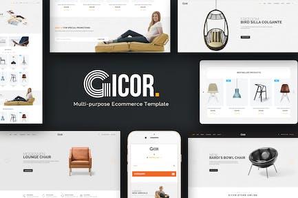 Gicor - Furniture OpenCart Theme
