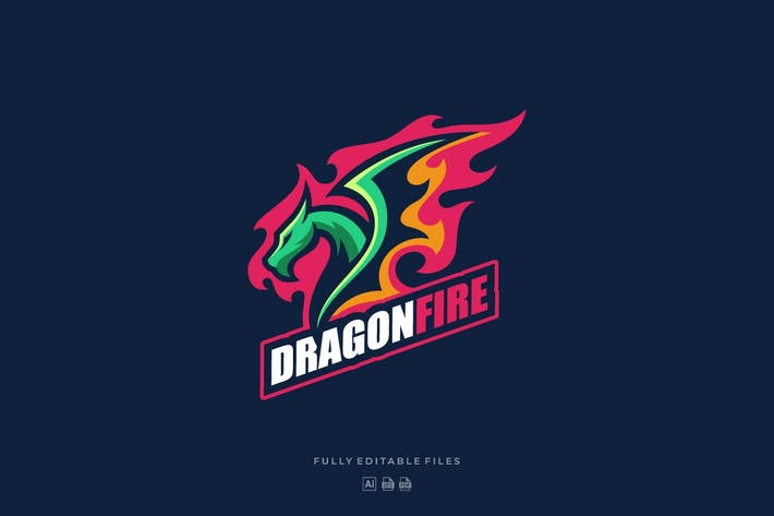 Thumbnail for Dragon Fire Sports and E-sports Logo