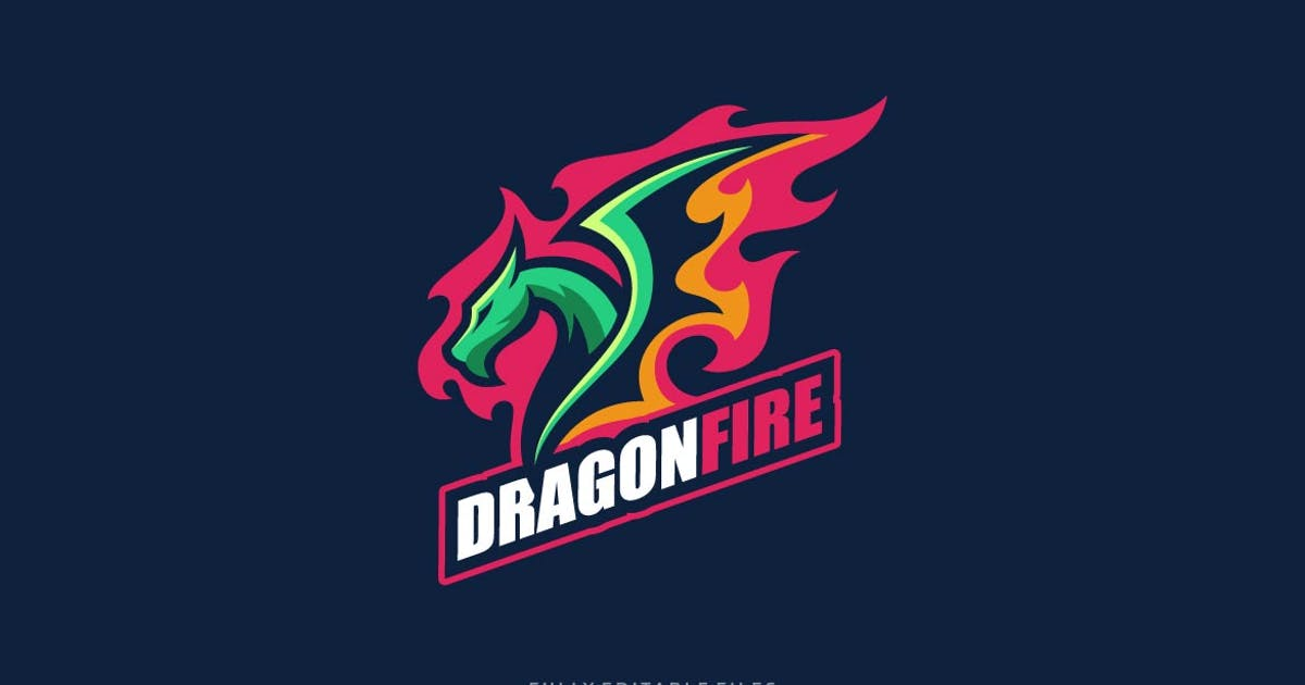 Download Dragon Fire Sports and E-sports Logo by ivan_artnivora