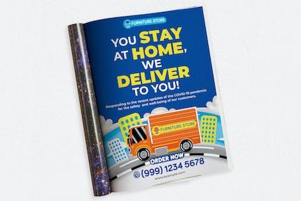Möbel Delivery Ads Magazin