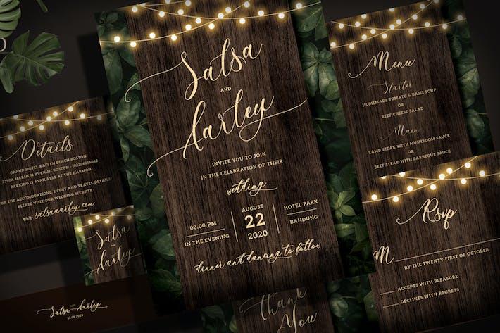 Thumbnail for String Light Wedding Invitation Set