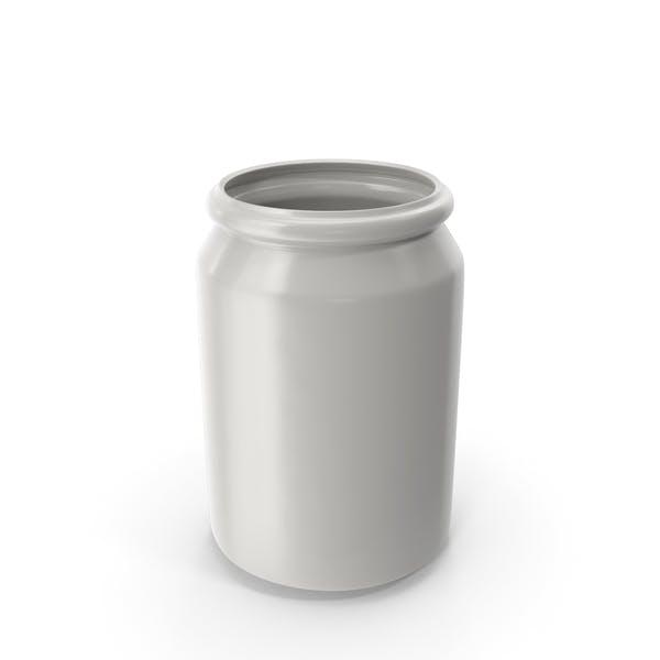 Porcelain Round Jar Open