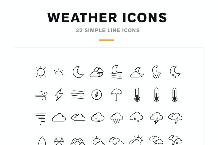 Thumbnail for Weather Icons and Font