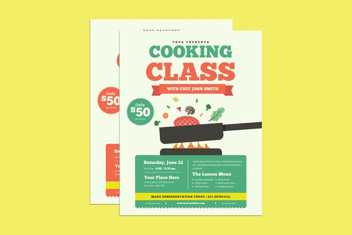 Thumbnail for Cooking Class Event Flyer