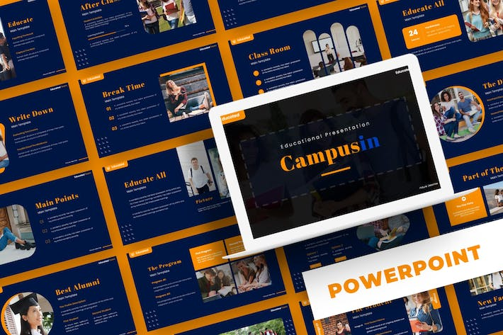 Thumbnail for Campusin - Powerpoint Template