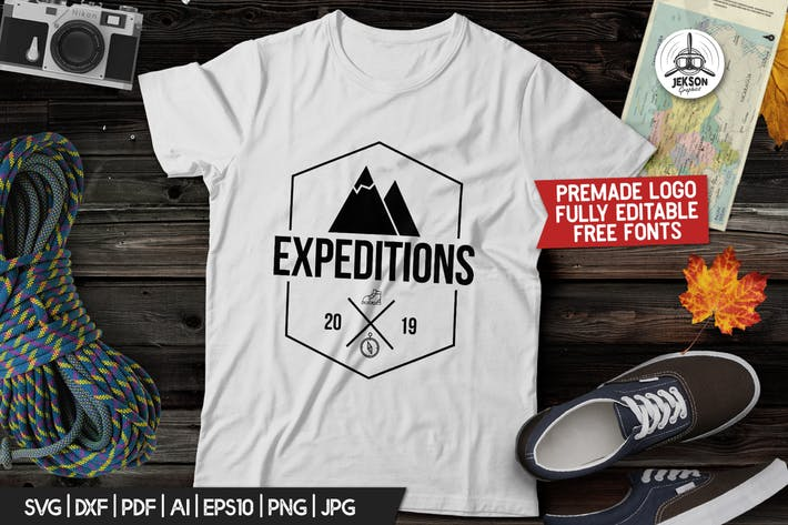Thumbnail for Vintage Hiking Logo / Expedition Label Templates