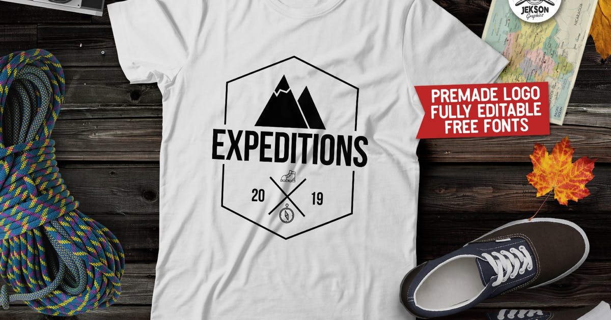 Vintage Hiking Logo / Expedition Label Templates by JeksonJS