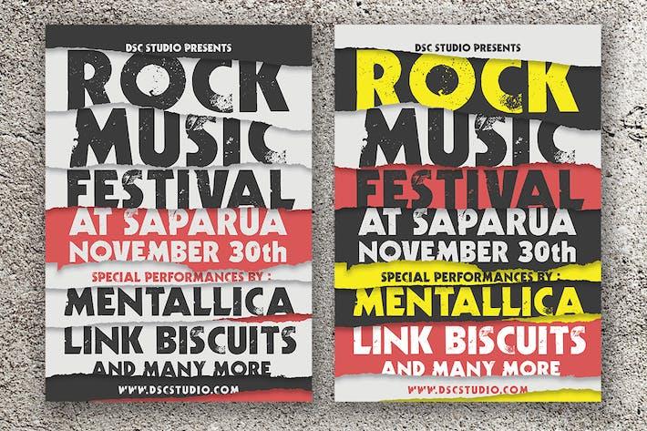 Thumbnail for Rock Music Festival Flyer