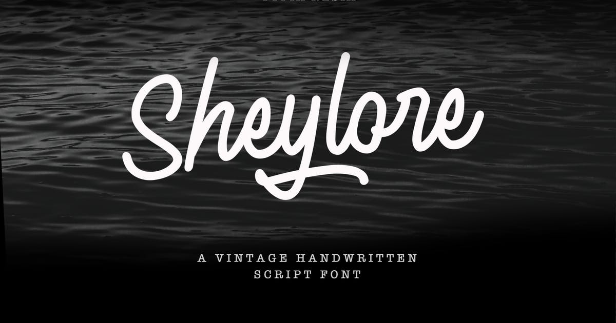 Download Sheylore - Vintage Romantic Handwritten Font by yipianesia