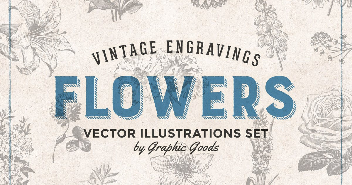 Download Flowers - Vintage Engraving Illustrations by GraphicGoods