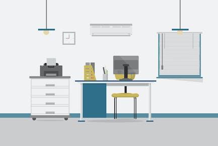 Secretary Office - Antecedentes de ilustración