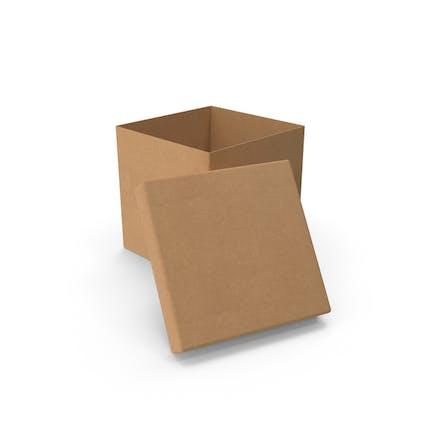 Cardboard Box Cube Open