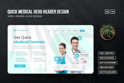 Quick Medical - Hero Header