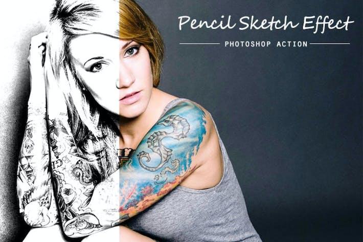 Эскиз карандаша | PSD action