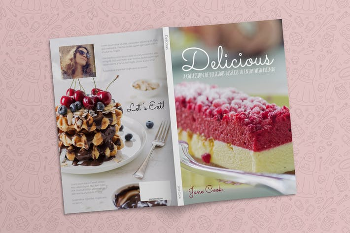 Thumbnail for Dessert Cookbook Template InDesign