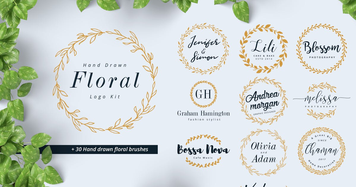 Download Hand Drawn Floral Logo Kit by BNIMIT