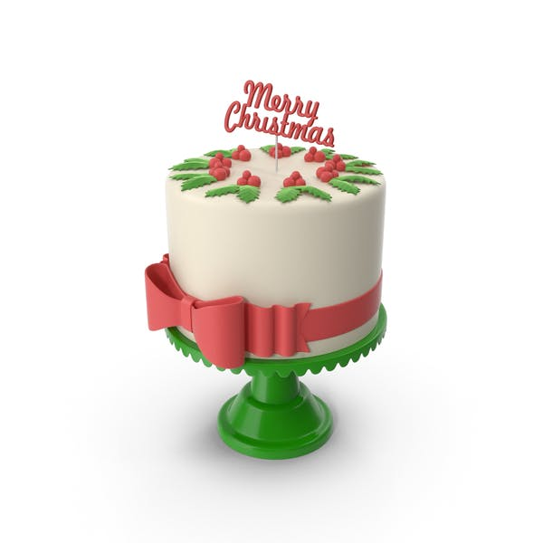 Thumbnail for New Year Cake with Topper Merry Christmas