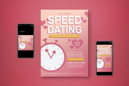 Speed Dating Flyer Set