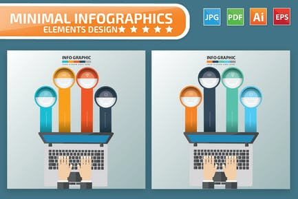 Laptop-Infografiken