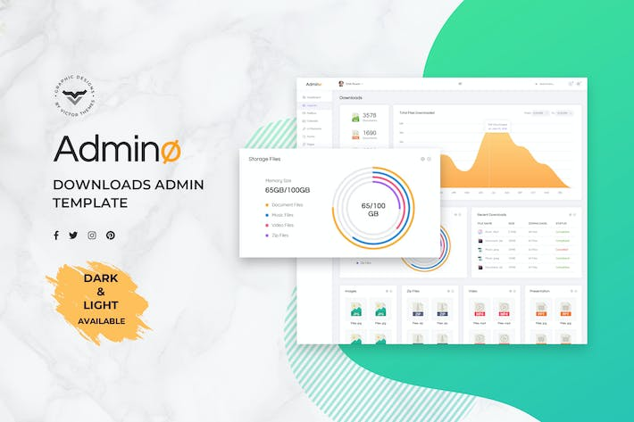 Cover Image For Downloads Admin Dashboard UI Kit