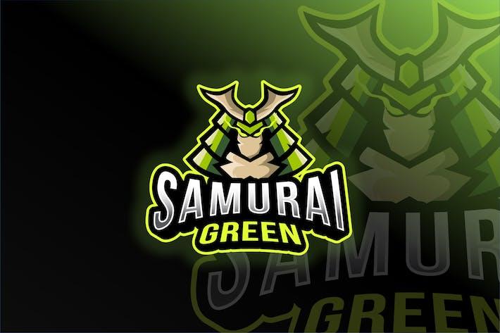 Thumbnail for Samurai Green Esport Logo Template