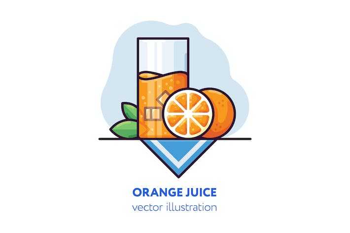 Thumbnail for Orange juice vector illustration