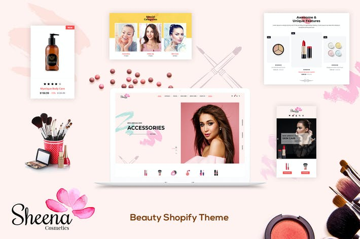 Thumbnail for Sheena - Cosméticos Shopify Tema