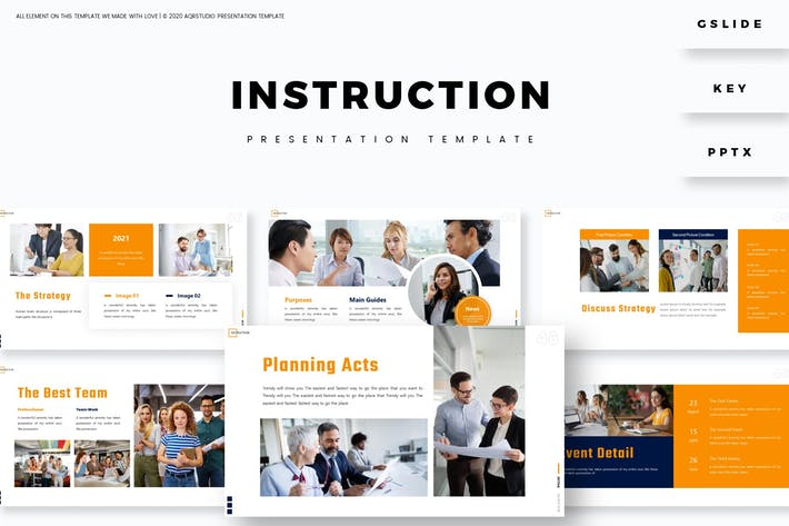 Instruction - Presentation Template