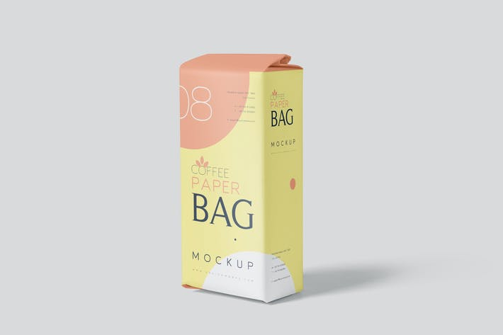Thumbnail for Coffee Paper Bag Mockup Set