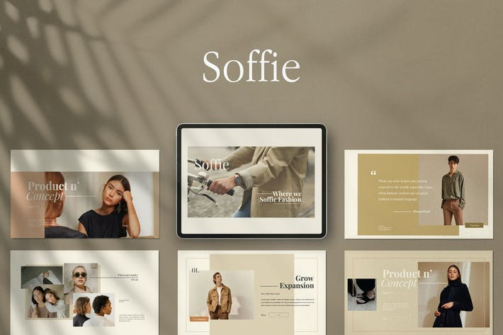 Cover Image For SOFFIE - Stylist Powerpoint Template