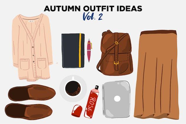 Autumn Outfit Ideas Vector Clip Art vol 2