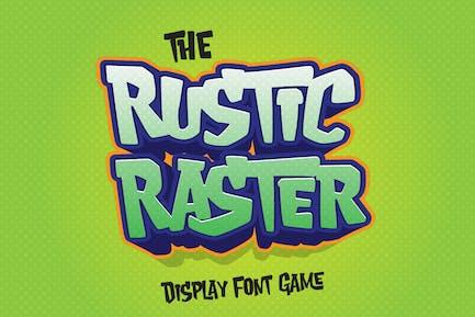Raster rústico - Fuente de juego juguetón