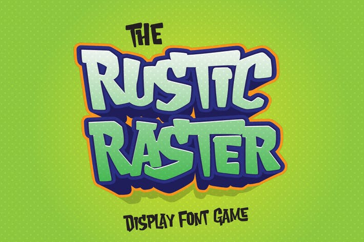 Thumbnail for Rustic Raster - Playful Game Font
