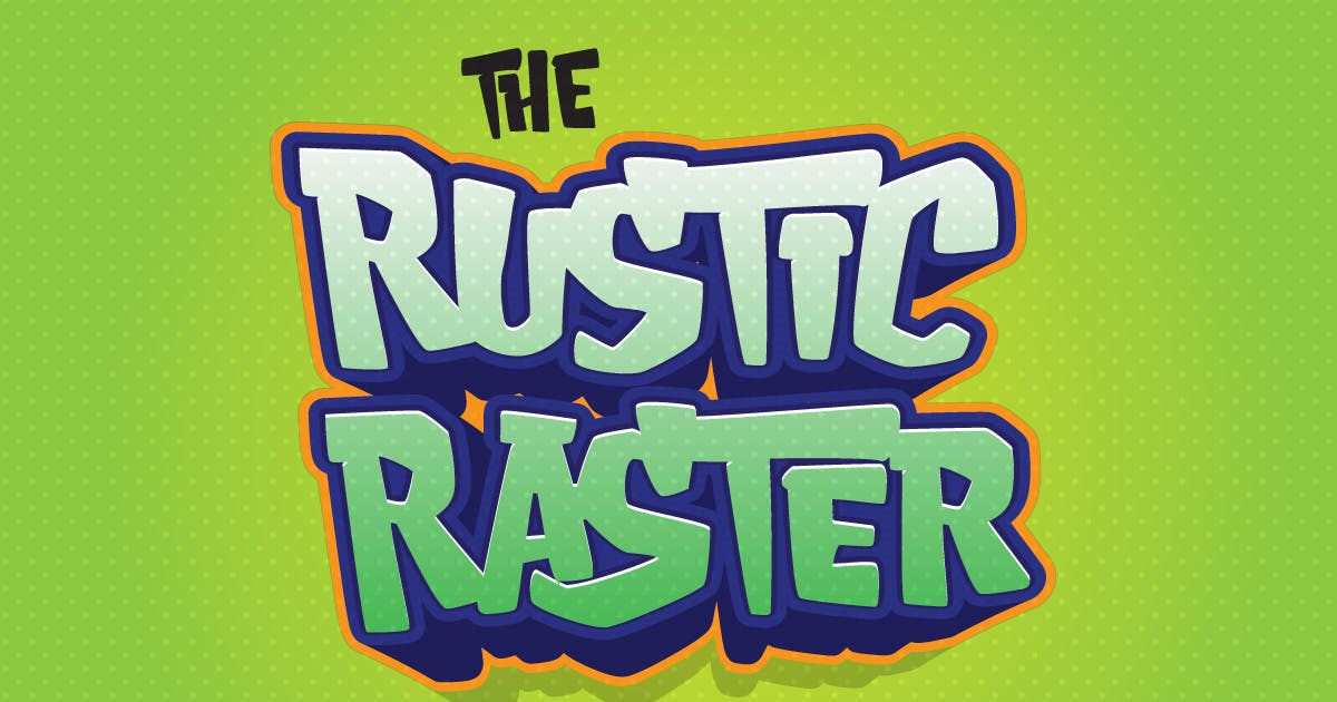 Download Rustic Raster - Playful Game Font by dirtylinestudio