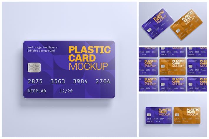 Thumbnail for Plastikkarte Mockup Set | Kreditkarte