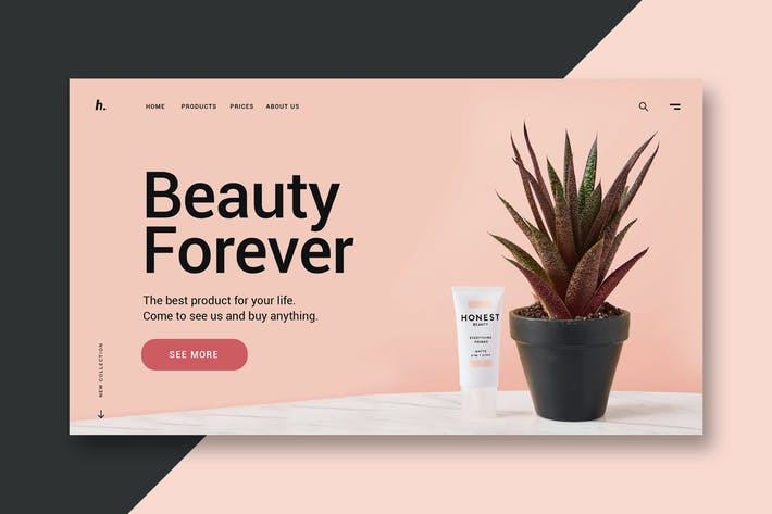 Thumbnail for Beauty Shop - Landing Page