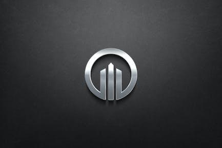 3D Chrome Logo Mockup