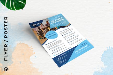 Water donation charity Template Flyer / Poster