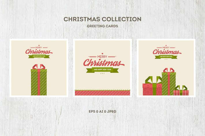 Thumbnail for Christmas Cards Vector Collection