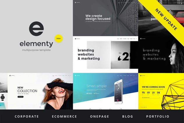 Elementy - Multipurpose One & Multi Page Template - product preview 0