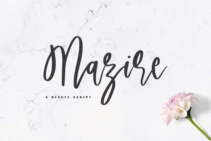 Mazire - Une police de script de beauté