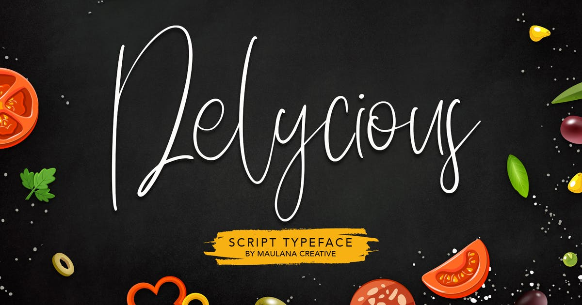 Download Delycious Script Restaurant Typeface by maulanacreative