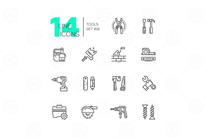 Thumbnail for Tools - modern single line icons set